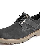 baratos -Homens Sapatos de couro Pele Napa Outono Esportivo / Casual Oxfords Não escorregar Preto / Cinzento / Marron