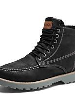 Недорогие -Муж. Fashion Boots Полиуретан Зима / Наступила зима На каждый день Ботинки Для прогулок Дышащий Ботинки Черный / Зеленый / Серый
