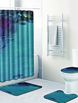 Недорогие -1 комплект Modern Коврики для ванны 100 г / м2 полиэфирный стреч-трикотаж Новинки Прямоугольная Ванная комната Милый