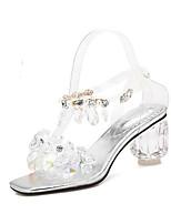 abordables -Femme Chaussures de confort Matière synthétique Eté Sandales Talon hétérotypique Argent / Rose / Mariage