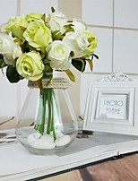 abordables -Fleurs artificielles 12 Une succursale Classique Moderne / Contemporain Roses Fleur de Table