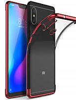 Недорогие -Кейс для Назначение Xiaomi Mi 8 / Mi 8 SE Покрытие / Прозрачный Кейс на заднюю панель Однотонный Мягкий ТПУ для Xiaomi Pocophone F1 / Xiaomi Mi Max 3 / Xiaomi Mi Mix 2