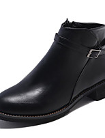 billiga -Dam Fashion Boots PU Höst Minimalism Stövlar Låg klack Korta stövlar / ankelstövlar Svart / Brun