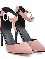 Недорогие -Жен. Комфортная обувь Полиуретан Весна Обувь на каблуках На шпильке Черный / Зеленый / Розовый