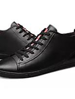 Недорогие -Муж. Комфортная обувь Полиуретан Осень Кеды Черный
