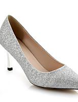 Недорогие -Жен. Комфортная обувь Синтетика Лето Обувь на каблуках На шпильке Золотой / Серебряный