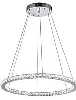 abordables -VALLKIN Circulaire Lustre Lumière d'ambiance Plaqué Métal Cristal, Ajustable 110-120V / 220-240V Blanc Crème / Blanc Neige