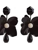 abordables -Femme Noir Noir Gemme Classique Boucles d'oreilles - Inoxydable Cœur Européen Rouge / Vert / Bleu Pour Vacances Festival