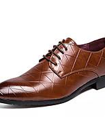 baratos -Homens Sapatos Confortáveis Couro / Couro Ecológico Outono Negócio Oxfords Não escorregar Preto / Marron