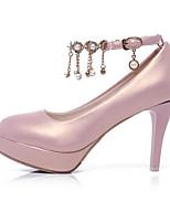 Недорогие -Жен. Балетки Полиуретан Осень Обувь на каблуках На шпильке Белый / Черный / Розовый