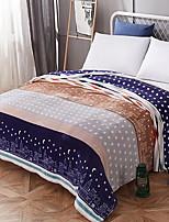 Недорогие -Фланель, Активный краситель Геометрический принт Полиэстер одеяла