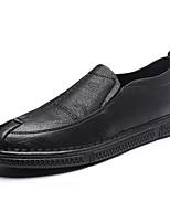 Недорогие -Муж. Комфортная обувь Полиуретан Осень Деловые Мокасины и Свитер Доказательство износа Черный / Темно-коричневый / Хаки