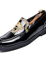 Недорогие -Муж. Комфортная обувь Полиуретан Осень На каждый день Мокасины и Свитер Нескользкий Золотой / Черный