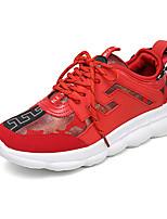 Недорогие -Муж. Комфортная обувь Замша Наступила зима На каждый день Кеды Контрастных цветов Белый / Черный / Красный