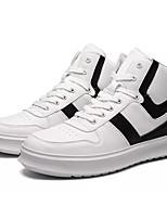Недорогие -Муж. Комфортная обувь Полиуретан Осень На каждый день Кеды Нескользкий Контрастных цветов Белый / Черный / Черно-белый
