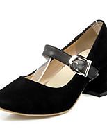 baratos -Mulheres Sapatos Confortáveis Couro Ecológico Primavera Saltos Salto Robusto Branco / Preto / Vermelho / Casamento