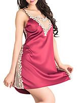 abordables -Femme Sexy Costumes Vêtement de nuit Dentelle, Couleur Pleine / Foulard