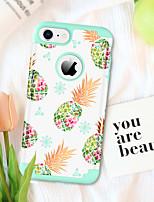 Недорогие -BENTOBEN Кейс для Назначение Apple iPhone 8 / iPhone 7 Защита от удара / С узором Кейс на заднюю панель Фрукты Твердый ПК / силикагель для iPhone 8 / iPhone 7