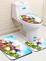Недорогие -3 предмета Традиционный / Modern Коврики для ванны 100 г / м2 полиэфирный стреч-трикотаж Креатив Прямоугольная Ванная комната Очаровательный