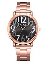 Недорогие -Жен. Наручные часы Кварцевый Новый дизайн Повседневные часы Имитация Алмазный сплав Группа Аналоговый Мода Элегантный стиль Серебристый металл / Розовое золото -  / Один год