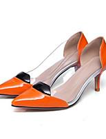 Недорогие -Жен. Комфортная обувь Наппа Leather Зима Обувь на каблуках На шпильке Оранжевый / Желтый