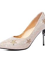 Недорогие -Жен. Комфортная обувь Замша Осень Обувь на каблуках На шпильке Черный / Миндальный / Свадьба / Повседневные
