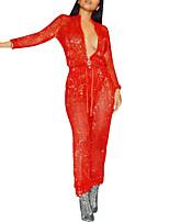 Недорогие -женский клубный комбинезон - сплошной цветной подставка