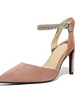 Недорогие -Жен. Комфортная обувь Замша Лето Обувь на каблуках На шпильке Черный / Серый / Розовый