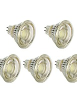billiga -5pcs 5 W 450 lm MR16 LED-spotlights T45 1 LED-pärlor COB Julbröllopsdekoration Varmvit / Vit 12 V