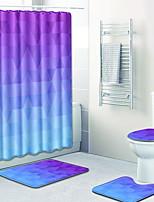 Недорогие -1 комплект Modern Коврики для ванны 100 г / м2 полиэфирный стреч-трикотаж Новинки Прямоугольная Ванная комната Новый дизайн