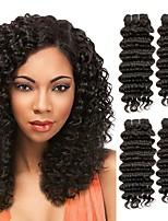 abordables -3 offres groupées Cheveux Eurasiens Ondulation profonde Non Traités / Cheveux humains Tissages de cheveux humains / Extension / Bundle cheveux 8-28 pouce Noir Couleur naturelle Tissages de cheveux