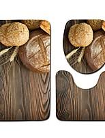 Недорогие -1 комплект Modern Коврики для ванны 100 г / м2 полиэфирный стреч-трикотаж Новинки Круглый / Прямоугольная Ванная комната Творчество