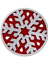 baratos -Ornamentos Férias Têxtil / Tecido Redonda Desenho Animado Decoração de Natal