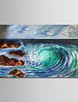 billiga -Hang målad oljemålning HANDMÅLAD - Abstrakt / Landskap Moderna Duk