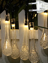 Недорогие -2,5м Гирлянды 10 светодиоды Тёплый белый Декоративная 220-240 V 1 комплект