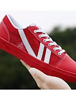 Недорогие -Жен. Комфортная обувь Сетка Лето Кеды На плоской подошве Белый / Черный / Красный