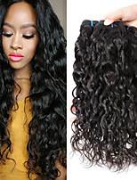 abordables -3 offres groupées Cheveux Malaisiens Ondulation Non Traités / Cheveux humains Cadeaux / Tissages de cheveux humains / Bundle cheveux 8-28 pouce Couleur naturelle Tissages de cheveux humains Soyeux