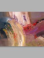 billiga -Hang målad oljemålning HANDMÅLAD - Abstrakt Moderna Duk