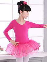 abordables -Danse classique Robes Fille Entraînement / Utilisation Coton / Polyester Dentelle Manches Longues Taille moyenne Robe