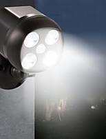 baratos -BRELONG® 1pç 6 W Focos de LED Impermeável / Controle de luz / Monitor de Detecção de Movimento Branco 3.7 V Iluminação Externa / Piscina / Pátio 4 Contas LED