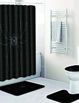 Недорогие -1 комплект Мультяшная тематика Коврики для ванны 100 г / м2 полиэфирный стреч-трикотаж Животное Прямоугольная Ванная комната Новый дизайн