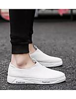Недорогие -Муж. Комфортная обувь Сетка Лето Мокасины и Свитер Белый / Черный