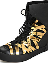Недорогие -Муж. Комфортная обувь Синтетика Осень Спортивные / На каждый день Кеды Сохраняет тепло Черный / Красный