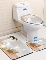 Недорогие -1 комплект / 3 предмета Modern Коврики для ванны 100 г / м2 полиэфирный стреч-трикотаж Креатив Прямоугольная Ванная комната Новый дизайн