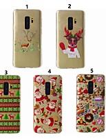 Недорогие -Кейс для Назначение SSamsung Galaxy S9 Plus / S8 Прозрачный / С узором Кейс на заднюю панель Рождество Мягкий ТПУ для S9 / S9 Plus / S8 Plus