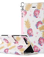 baratos -BENTOBEN Capinha Para Apple iPhone 8 Plus / iPhone 7 Plus Carteira / Porta-Cartão / Com Suporte Capa Proteção Completa Fruta Rígida PU Leather / PC para iPhone 8 Plus / iPhone 7 Plus