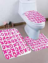 billiga -3 delar Moderna Duschmattor 100g / m2 Polyester Stretch Nyhet Rektangulär Badrum Kreativ