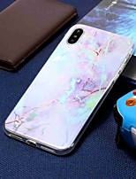 baratos -Capinha Para Apple iPhone XR / iPhone XS Max Galvanizado / Estampada Capa traseira Mármore Macia TPU para iPhone XS / iPhone XR / iPhone XS Max