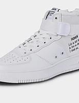 Недорогие -Муж. Армейские ботинки Синтетика Зима Спортивные / На каждый день Кеды Сохраняет тепло Белый / Черный