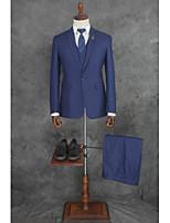 abordables -Couleur Pleine Coupe Sur-Mesure Coton / Polyester Costume - Cranté Droit 1 bouton